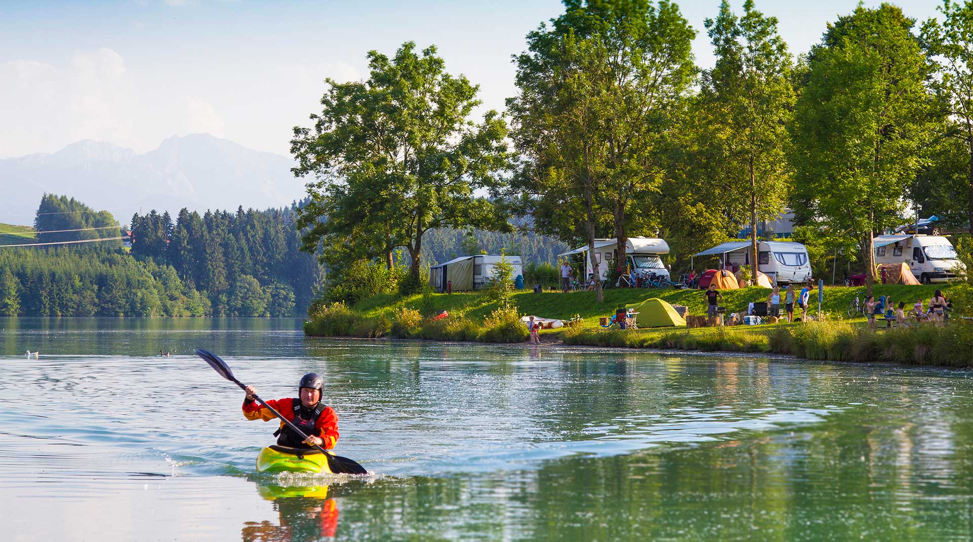 Camping am bayrischen See