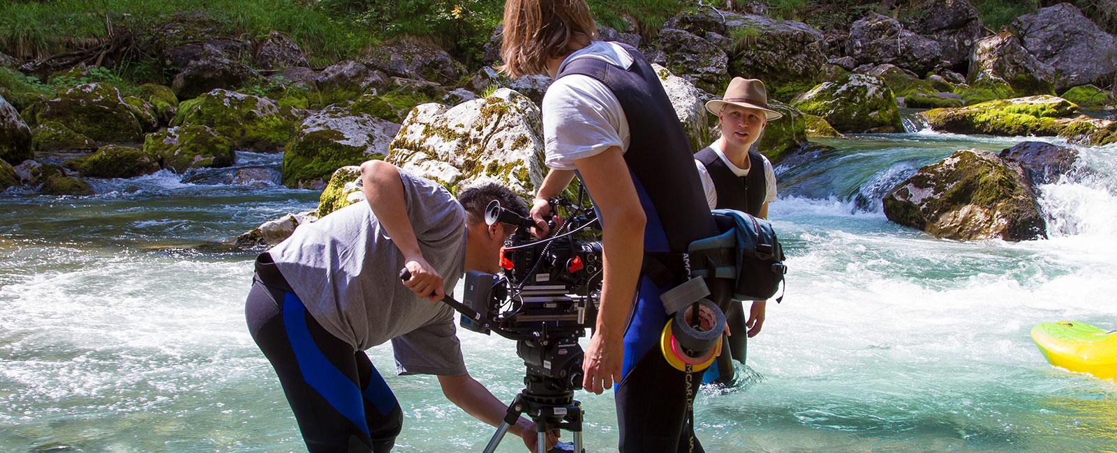 Videodreh Camping in Bayern Fluss